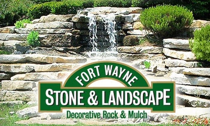 Fort Wayne Stone & Landscape - Fort Wayne: $10 for One Cubic Yard of Mulch from Fort Wayne Stone & Landscape ($21.40 Value)
