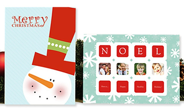 Mixbook: 40, 75, or 120 Personalized Holiday Photo Cards and Free Shipping from Mixbook (Up to 79% Off)