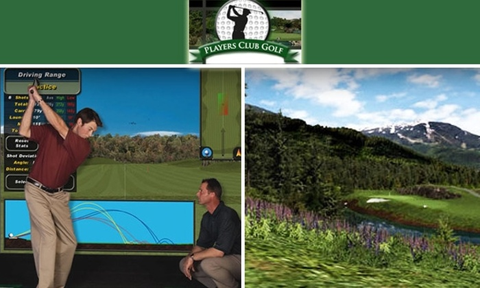 Players Club Golf - Pico: $30 for a Golf Lesson and One Hour on a Golf Simulator at Players Club Golf ($80 value)