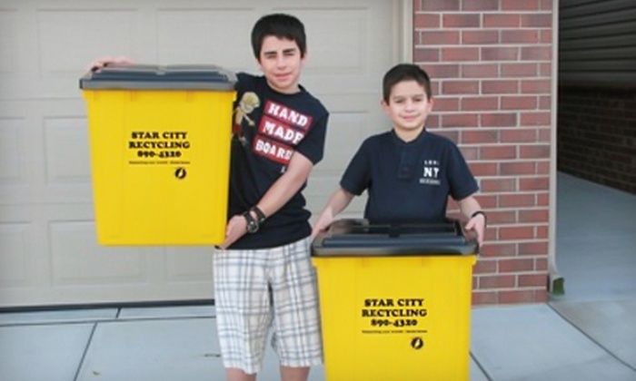Star City Recycling - Lincoln: $29 for Six Months of Recycling Pick-Up from Star City Recycling ($66 Value)