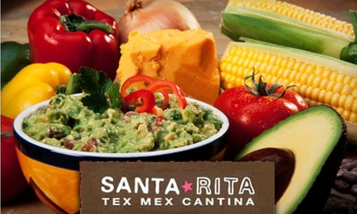 Santa Rita Tex-Mex Cantina - Multiple Locations: $10 for $20 Worth of Tex-Mex at Santa Rita Tex-Mex Cantina