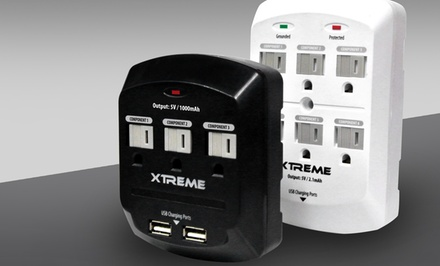Xtreme 3-Outlet or 6-Outlet Wall Tap with 2 USB Ports