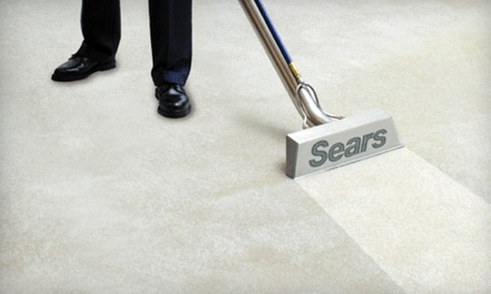 Sears Carpet & Upholstery Cleaning - Palm Beach: $44 for Carpet Cleaning in Two Areas (Up to 300 Square Feet Each) from Sears Carpet & Upholstery Cleaning ($89 Value)