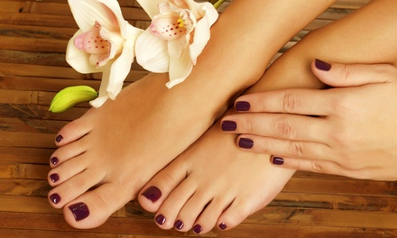 One or Three Classic Mani-Pedis or One No-Chip Mani-Pedi at All Textures Unisex Hair & Nail Spa (Up to 53% Off)