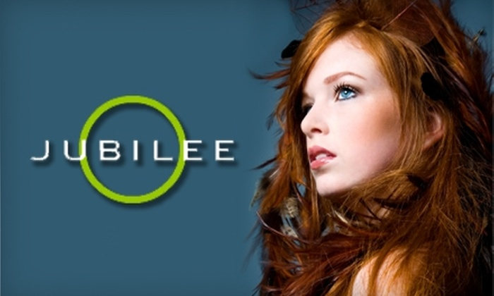 Jubilee Hair Studio - Civic Center: $30 for a Haircut, Style, and Blow-Dry (Up to $60 Value) or $160 for a Brazilian Gloss Treatment ($350 Value) at Jubilee Hair Studio