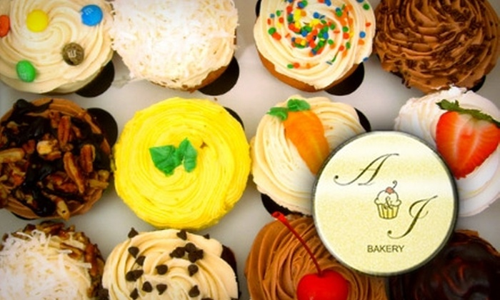 A&J Bakery - Oak Lawn: $12 for a Dozen Cupcakes at A&J Bakery ($24 Value)