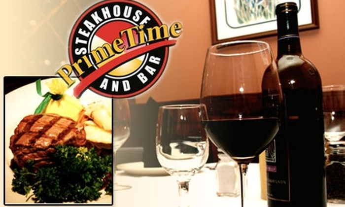 Prime Time Steakhouse - Houston: $25 for $50 Worth of Gourmet Steak and More at Prime Time Steakhouse