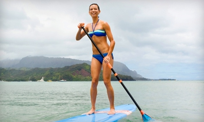 Hawaiian Surf Adventure - Hawaii Kai: $49 for a Two-Hour Group Stand-Up-Paddle-Surf Lesson at Hawaiian Surf Adventure