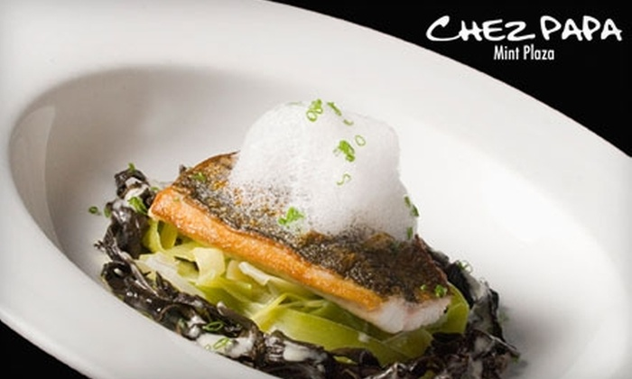 Chez Papa Resto - SoMa: $35 for $75 Worth of French Cuisine and Drinks at Chez Papa Resto