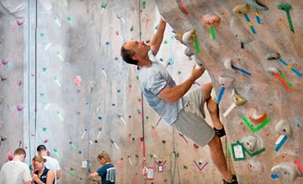 1-Month Unlimited Climbing Membership with Gear Rental for 2 People (a $150 value) - Rock Spot Climbing in Lincoln
