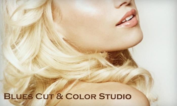 Blues Cut & Color Studio - Marquette: $17 for a Men's Haircut ($35 Value), $24 for a Women's Haircut (Up to $50 Value), or $45 for a Women's Color ($95 Value) at Blues Cut & Color Studio