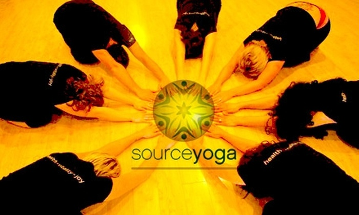 Source Yoga - North End: $45 for a One-Month Unlimited Yoga Pass at Source Yoga ($105 Value)