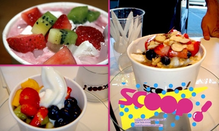 Scoop! - Vancouver: $3 for $6 Worth of Frozen Yogurt at Scoop!