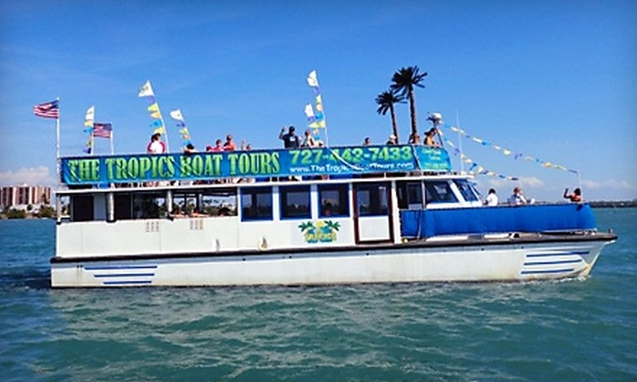 The Tropics Boat Tours - Dunedin: Hurricane Pass Tour or Caladesi Island Excursion from The Tropics Boat Tours in Clearwater Beach. Three Options Available.