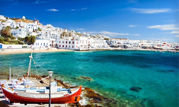 Eight-Day Greek Island Vacation with Airfare - Turkey & Greece: Eight-Day Greece Vacation with Round-Trip Airfare and 4- or 5-Star Accommodations from Key Tours International