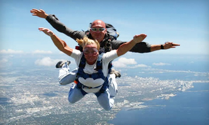 Miami Skydiving Center - Kendale Lakes-Tamiami: Tandem Skydive for One or Two with T-Shirt from Miami Skydiving Center (Up to 51% Off)