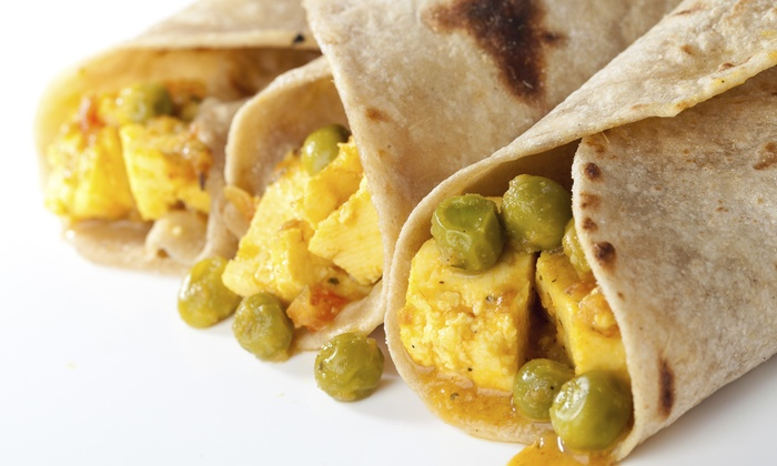Trini To D Bone - Victoria: C$9 for Two Roti Lunch Plates at Trini To D Bone (Up to C$16 Value)