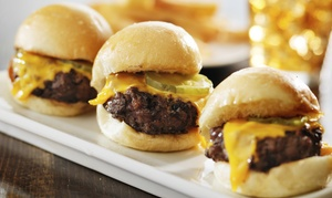 The Library Bar & Grill: Sliders and Drinks for Two or $23 for $40 Worth of Food and Drinks at The Library Bar & Grill