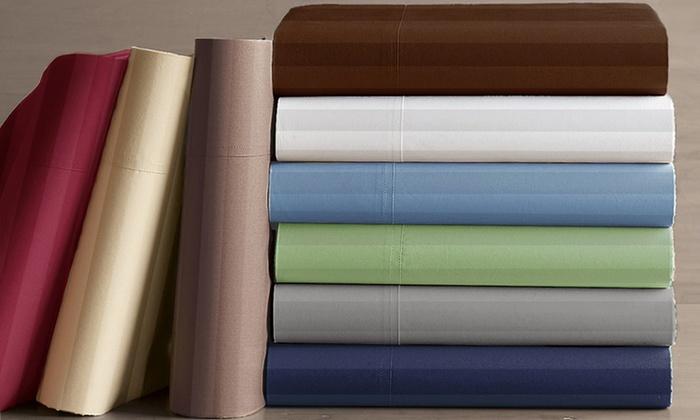 Hotel Peninsula Dobby-Stripe Sheet Set: Hotel Peninsula Dobby-Stripe Microfiber Sheet Set. Multiple Options Available. Free Returns.
