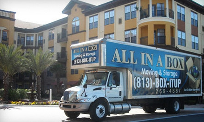 All In A Box Moving & Storage - Tampa Bay Area: $295 for Four Hours of Moving Services with Two Movers and Truck from All In A Box Moving & Storage (Up to $600 Value)