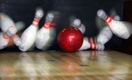 One Hour of Bowling for Four People, Including Four Shoe Rentals, One Large Pizza, and Four Medium Drinks  - Fannin Lanes in Brandon