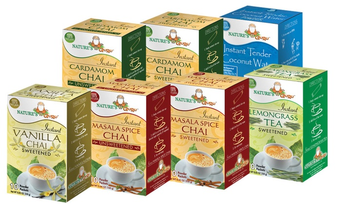 4-Packs of Nature's Guru Tea : 4-Packs of Nature's Guru Tea. Free Shipping.