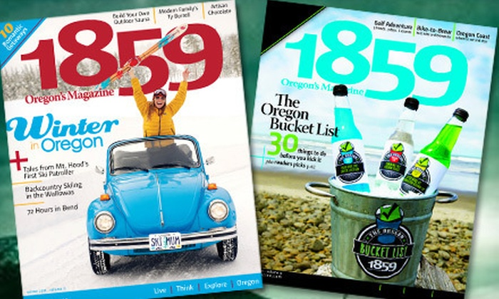 """""""1859 Oregon's Magazine"""" - Central Hillsboro: One-, Two-, or Three-Year Subscription to """"1859 Oregon's Magazine"""" (Up to 53% Off)"""