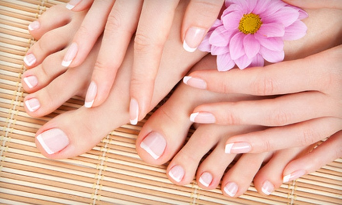 The Powder Room - Brandon: One or Two Mani-Pedis at The Powder Room (Up to 55% Off)