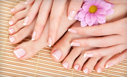 One Mani-Pedi (a $55 value) - The Powder Room in Brandon
