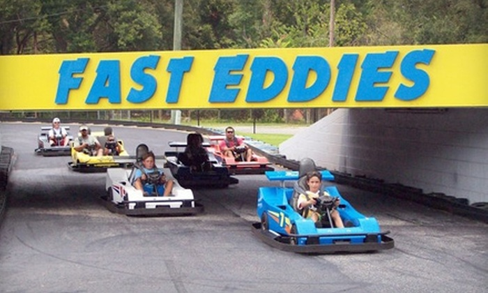 "Fast Eddies Fun Center - Brentwood Park: $22 for a ""Fun for 4"" Pack at Fast Eddies Fun Center ($44.25 Value)"