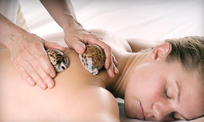 Jen Adams LMT - Fairhope: 90-Minute Hot-Stone or Seashell Massage from Jen Adams LMT in Fairhope (Half Off). Choose between two options.