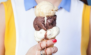 Queen of Cream: 5- or 10-Punch Card Good for Ice Cream or Coffee at Queen of Cream (Up to 48% Off)