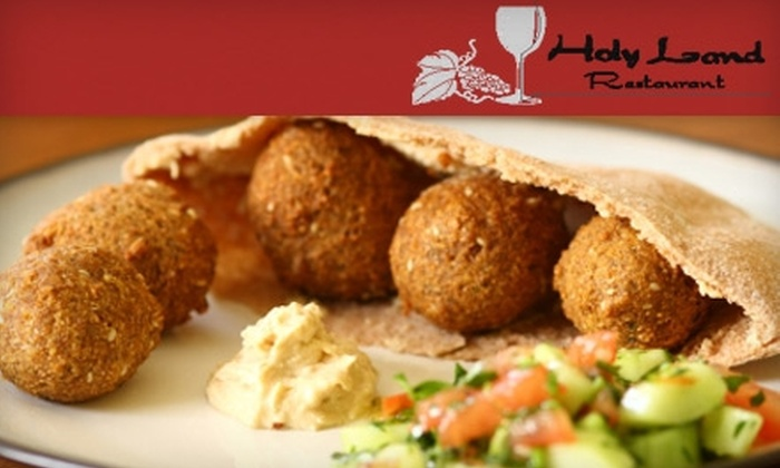 Holy Land Restaurant - Lakeshore: $5 for $10 Worth of Lunch Fare at Holy Land Restaurant