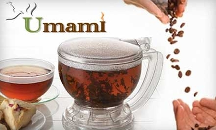 Umami Gourmet Coffee & Exotic Tea Shop - Fairfield: $12 for $25 worth of Café Drinks and Eats at Umami Gourmet Coffee & Exotic Tea Shop