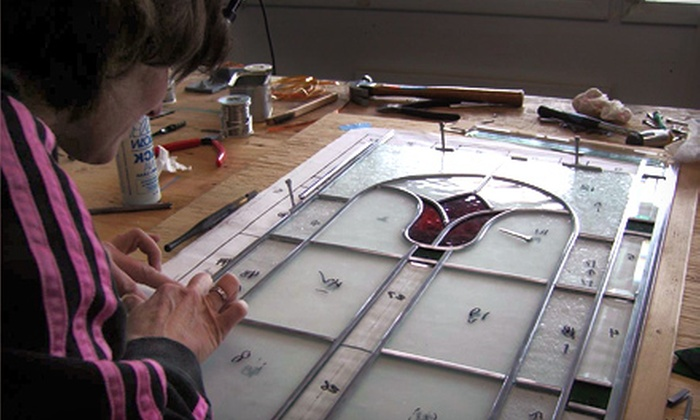 Glassique - Maple Leaf: Glass-Fusing Class, Stained-Glass Class, or Private Instruction at Glassique