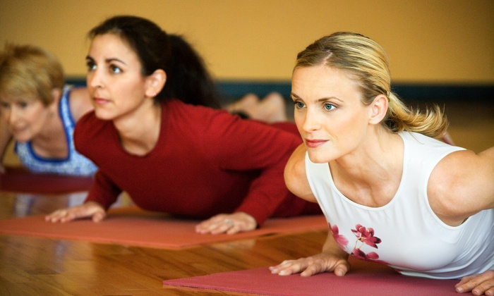 The Breathing Room - West End Mill Works: 10 Sessions or One Month of Wellness Yoga Classes at The Breathing Room        (Up to 65% Off)