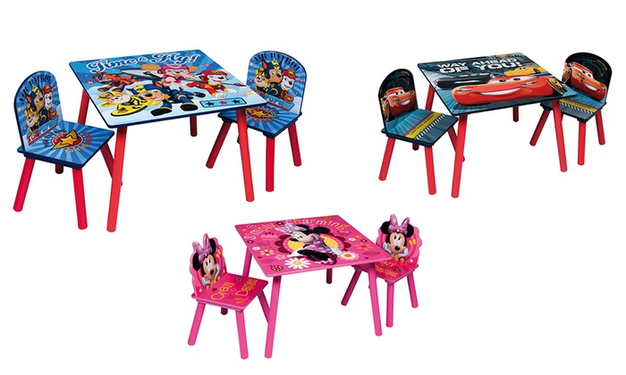 Wooden Kids' Character Table with Chairs