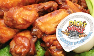 Dick's Wings and Grill: $11 for $20 Worth of Pub Food and Drinks at Dick's Wings and Grill