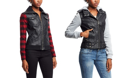 I Heart Boy Meets Girl Mixed-Media Jackets | Brought to You by ideel