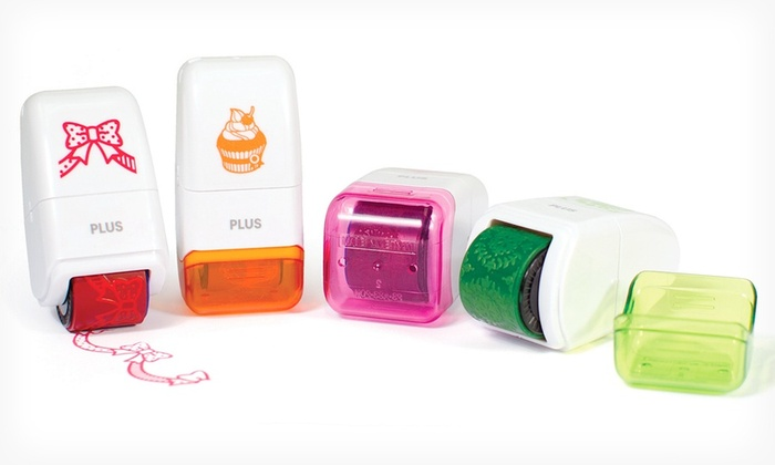 4-Pack of Plus America Mini Decorative Stamp Rollers: 4-Pack of Plus America Mini Decorative Stamp Rollers. Free Shipping.