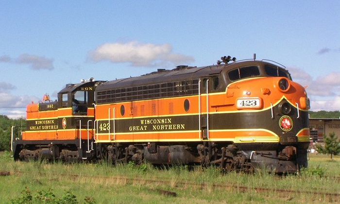Wisconsin Great Northern Railroad - Trego: $199 for a Dinner-Train Bed-and-Breakfast Package for Two from Wisconsin Great Northern Railroad ($299 Value)