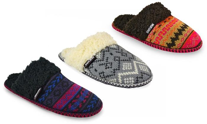 Muk Luks Knit Scuff Slippers | Groupon Goods