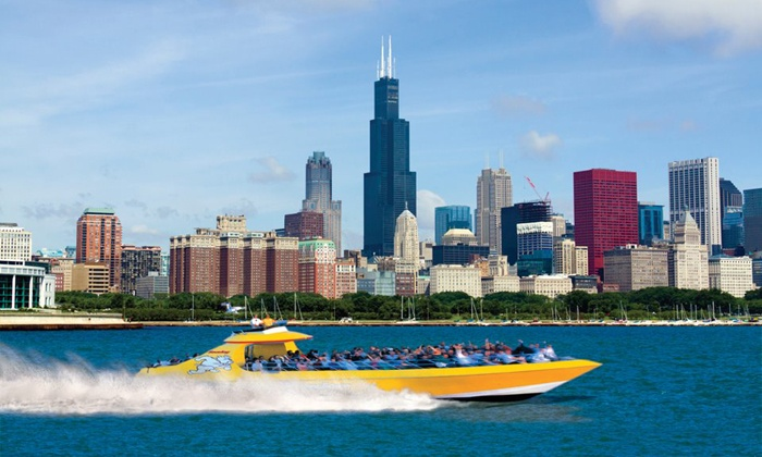Seadog Cruises - Navy Pier: Lakefront Speedboat Tour, Thrill Ride, or Architectural Tour from Seadog Cruises (Up to 31% Off)
