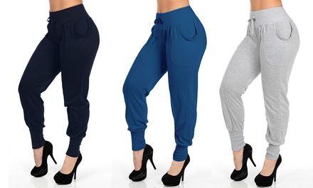 Women's Solid Jogger Pants