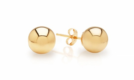 Solid 14K Gold Ball Stud Earrings from $24.99 to $49.99
