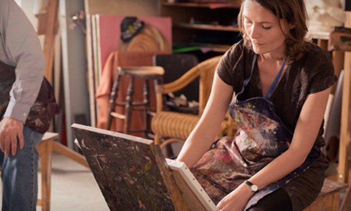 The Paint Cellar - Multiple Locations: BYOB Adult Painting Class for One or Two at The Paint Cellar (Up to 57% Off)