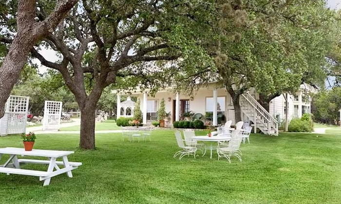 Serenity Farmhouse Inn - Wimberley, TX: 2-Night Stay for Two in a Cottage Room with Romance Package at Serenity Farmhouse Inn in Texas Hill Country