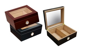 Small 25–50-Capacity Glass-Top Humidor