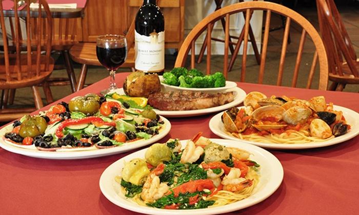 Valente's Restaurant - Watervliet: Italian Dinner for Two or Four on Sunday–Thursday or Friday–Saturday at Valente's Restaurant (Half Off)