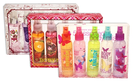 Simple Pleasures 5-Bottle Body Mist Sets. Multiple Sets Available.